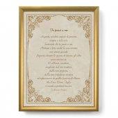 """Quadro con preghiera """"Tu pensi a me"""" su cornice dorata - dimensioni 44x34 cm - S. Riccardo Pampuri"""