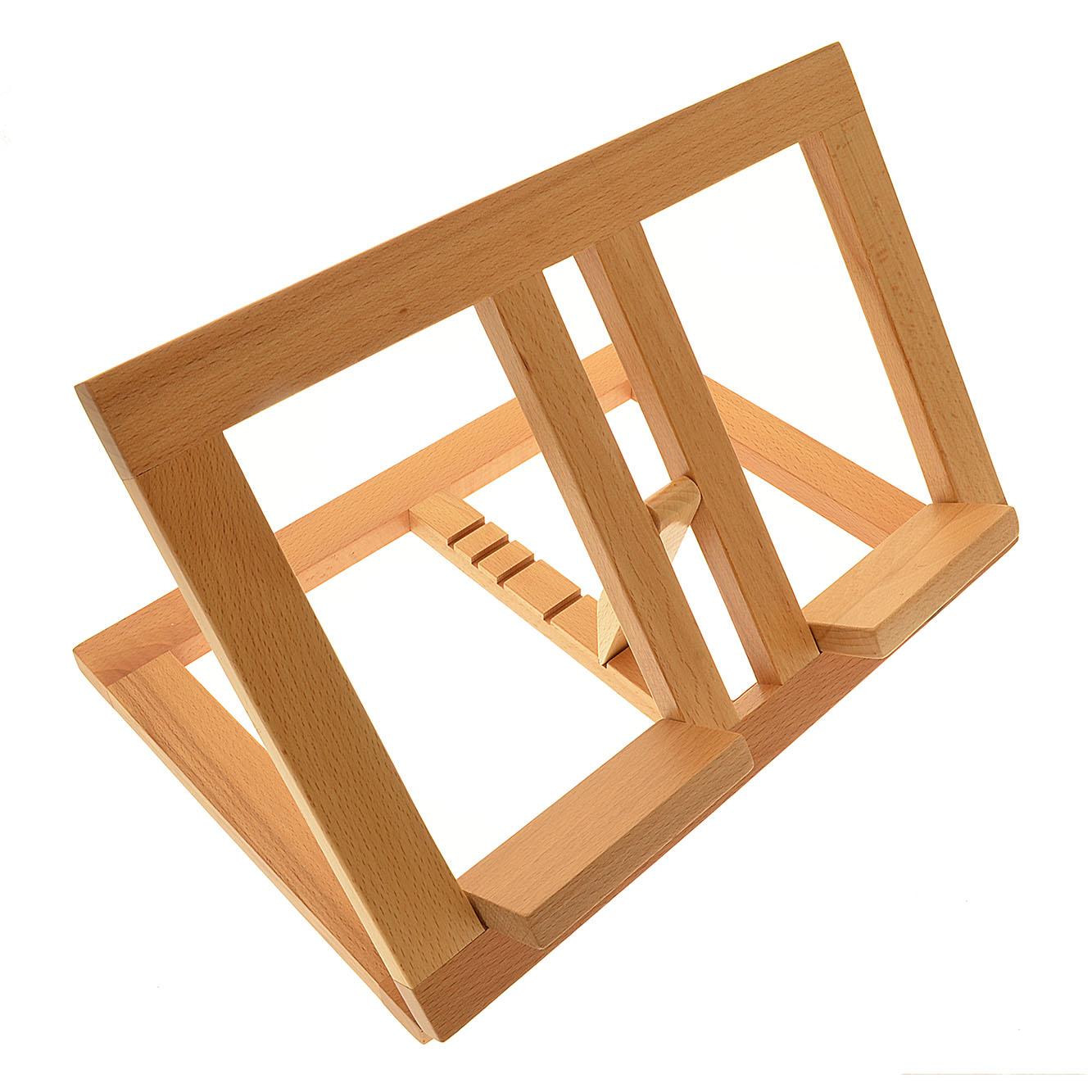 Leggio in legno chiaro con inclinazione variabile cm 21 x - Costruire un leggio da tavolo ...