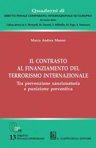 Copertina di 'Il contrasto al finanziamento del terrorismo internazionale'