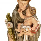 """Immagine di 'Statua in fibra di vetro """"Sant'Antonio di Padova"""" - altezza 60 cm'"""