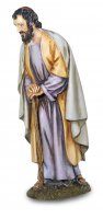 San Giuseppe chinato per presepe - cm 16