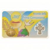 Card sacramento Prima Comunione con crocetta (10 pezzi)