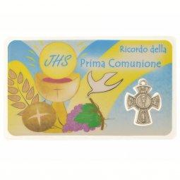 Copertina di 'Card sacramento Prima Comunione con crocetta (10 pezzi)'