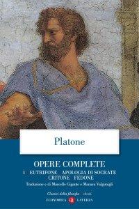 Copertina di 'Opere complete. 1. Eutifrone, Apologia di Socrate, Critone, Fedone'