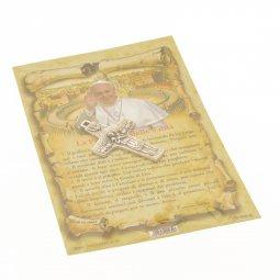 """Copertina di 'Croce in metallo """"Il buon pastore"""" e pagellina con preghiera delle 5 dita'"""