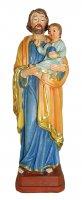 Statua di San Giuseppe con bambino da 12 cm in confezione regalo con segnalibro in IT/EN/ES/FR