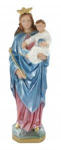 Copertina di 'Statua Maria Ausiliatrice in gesso dipinta a mano - 30 cm'