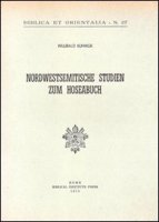 Nordwestsemitische Studien zum Hoseabuch - Kuhnigk Willibald