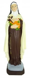 Copertina di 'Statua da esterno di Santa Teresa in materiale infrangibile, dipinta a mano, da circa 20 cm'