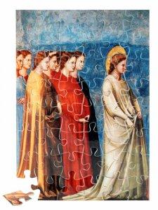 """Copertina di 'Puzzle """"Maria ritorna a Nazareth con sette ancelle"""" (48 pezzi)'"""