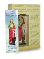 Immagine di 'Statua di San Giovanni Evangelista da 12 cm in confezione regalo con segnalibro in IT/EN/ES/FR'