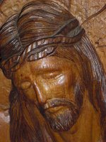 Immagine di 'Bassorilievo in legno volto di Cristo'