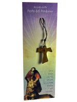 Croce tau in legno con confezione ricordo confessione