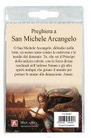 Immagine di 'Medaglia San Michele con laccio e preghiera in italiano'
