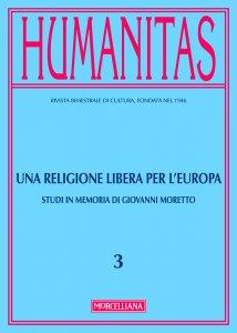 Copertina di 'Humanitas. 3/2017: Religione libera per l'Europa. (Una)'