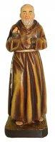 Statua di San Pio da 12 cm in confezione regalo con segnalibro in IT/EN/ES/FR