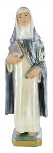 Copertina di 'Statua Santa Caterina da Siena in gesso madreperlato dipinta a mano - circa 30 cm'
