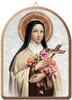 Tavola Santa Teresa stampa su legno ad arco - 15 x 20 cm
