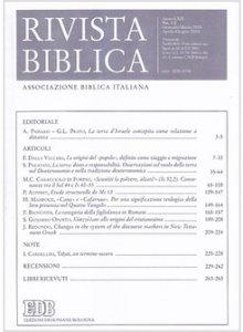 Copertina di 'Rivista biblica 1-2  (2016)'