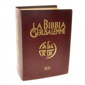 La Bibbia di Gerusalemme (copertina in pelle color rosso bordeaux e taglio oro)