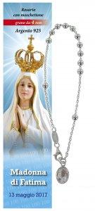 Copertina di 'Bracciale decina Madonna di Fatima - diam. grani mm 4'