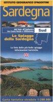 Sardegna. Sud 1:200.000. Le spiagge della Sardegna. Ediz. italiana e inglese