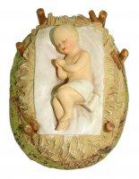 Gesù Bambino con culla Linea Martino Landi - presepe da 16 cm