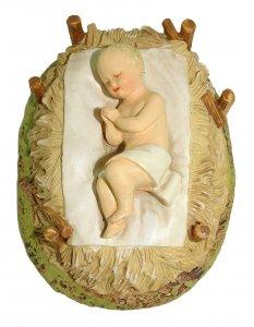 Copertina di 'Gesù Bambino con culla Linea Martino Landi - presepe da 16 cm'