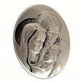 Bassorilievo in argento Sacra Famiglia di  su LibreriadelSanto.it