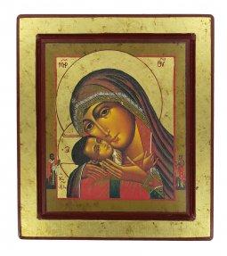 Copertina di 'Icona Madonna di Korsun, produzione greca su legno - 25 x 22 cm'