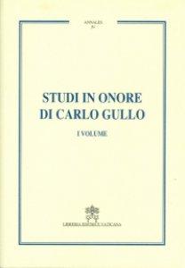 Copertina di 'Studi in onore di Carlo Gullo'