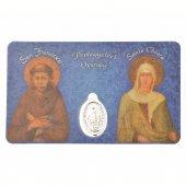 Card medaglia San Francesco e Santa Chiara (10 pezzi)