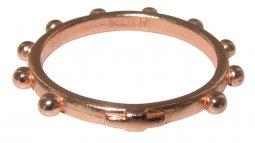 Copertina di 'Fedina rosario in argento con bagno in oro rosa mm 16'