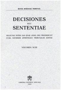 Copertina di 'Decisiones seu sententiae (2001)'
