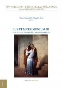 Copertina di 'Ius et Matrimonium III'