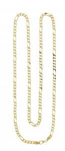 Copertina di 'Catena figarò in argento 925 dorato cm 90 di gr 66 circa'