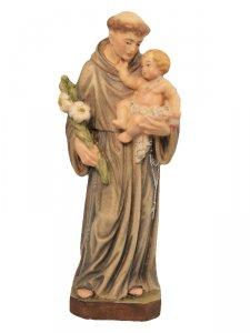 """Copertina di 'Statua in legno colorato """"Sant'Antonio di Padova"""" - altezza 15 cm'"""
