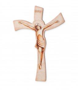 Copertina di 'Croce in resina ad effetto pietra con incisioni luminescenti -  dimensioni 29x19 cm'
