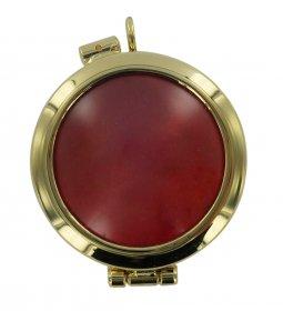 Copertina di 'Teca portareliquia tonda Ø 4 cm in ottone color oro'