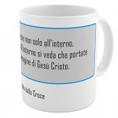 "SpiriTazza ""L'immagine di Gesù Cristo"" (San Paolo della Croce) - Sfondo grigio - San Paolo della Croce"