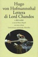 Lettera di Lord Chandos e altri scritti. Testo tedesco a fronte - Hofmannsthal Hugo von