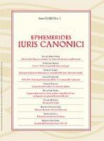 Ephemerides Iuris Canoni. Anno 55 (2015) n.1 - AA. VV.