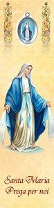 """Copertina di 'Segnalibro """"Santa Maria con medaglietta in polimero smaltata"""" - dimensioni 5x18 cm'"""