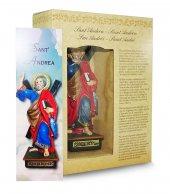 Immagine di 'Statua di Sant'Andrea da 12 cm in confezione regalo con segnalibro in IT/EN/ES/FR'