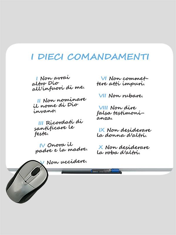 Favorito Mousepad 'I dieci comandamenti' (lavagna magnetica), in tessuto  LL04