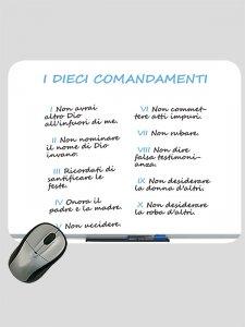 """Copertina di 'Mousepad """"I dieci comandamenti"""" (lavagna magnetica)'"""