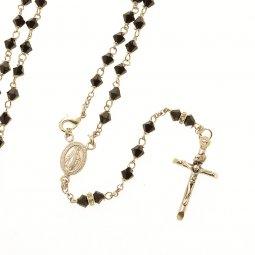 Copertina di 'Rosario collana in argento 925 con grani in Swarovski (astuccio incluso)'