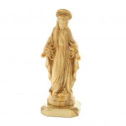 """Copertina di 'Statuetta in legno d'ulivo con base """"Madonna Miracolosa"""" - altezza 8 cm'"""