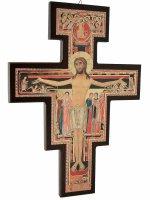 Croce di San Damiano in legno - dimensioni 40x29 cm