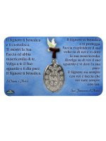 Immagine di 'Card medaglia San Francesco e Santa Chiara (10 pezzi)'